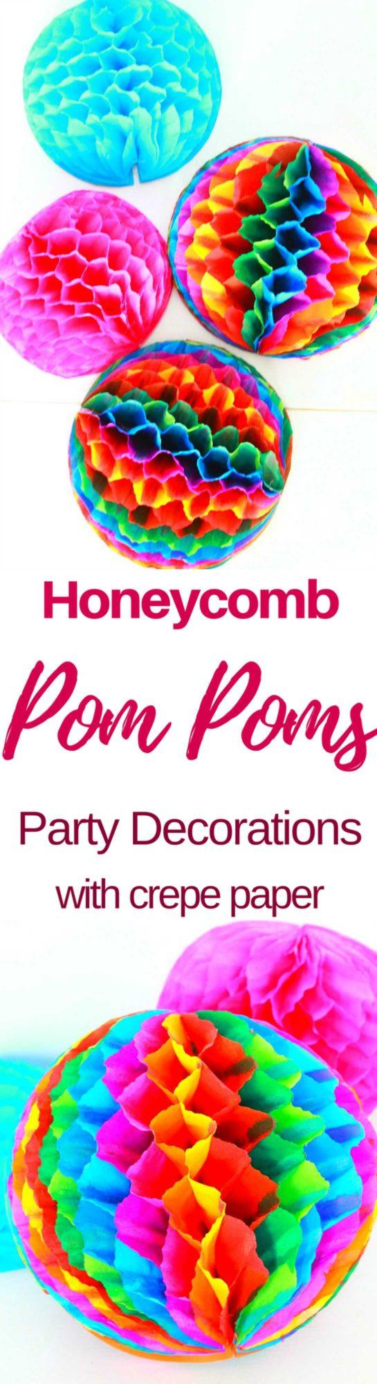 Honeycomb pom poms