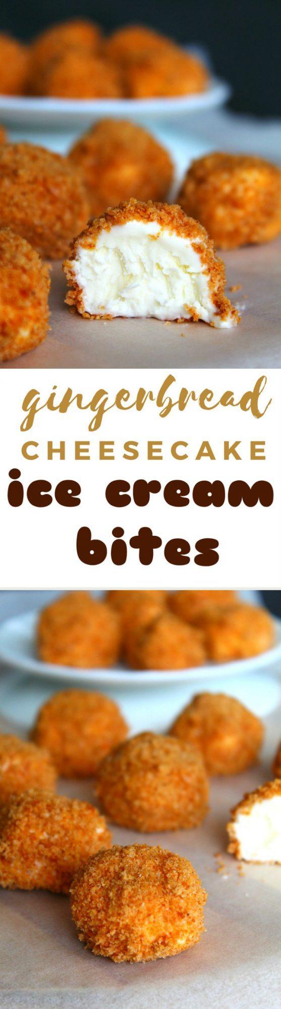Cheesecake ice cream bites