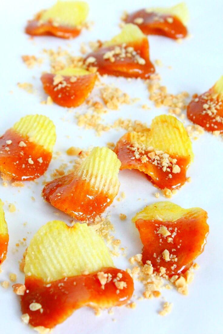 Caramel Potato Chips