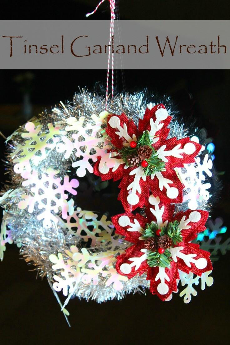 Christmas tinsel wreath