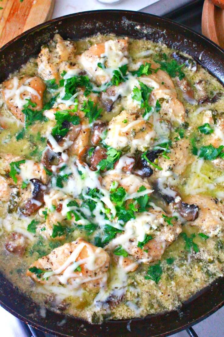 chicken with mushrooms and sour cream