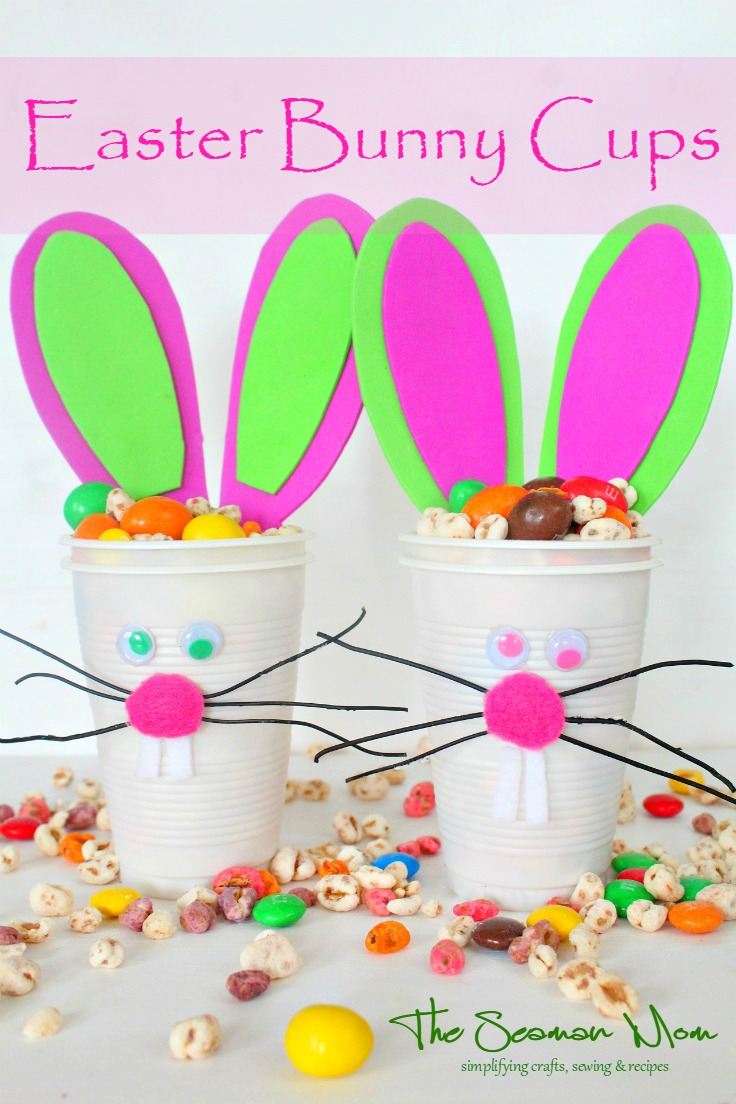 Easter Bunny Snack Cups