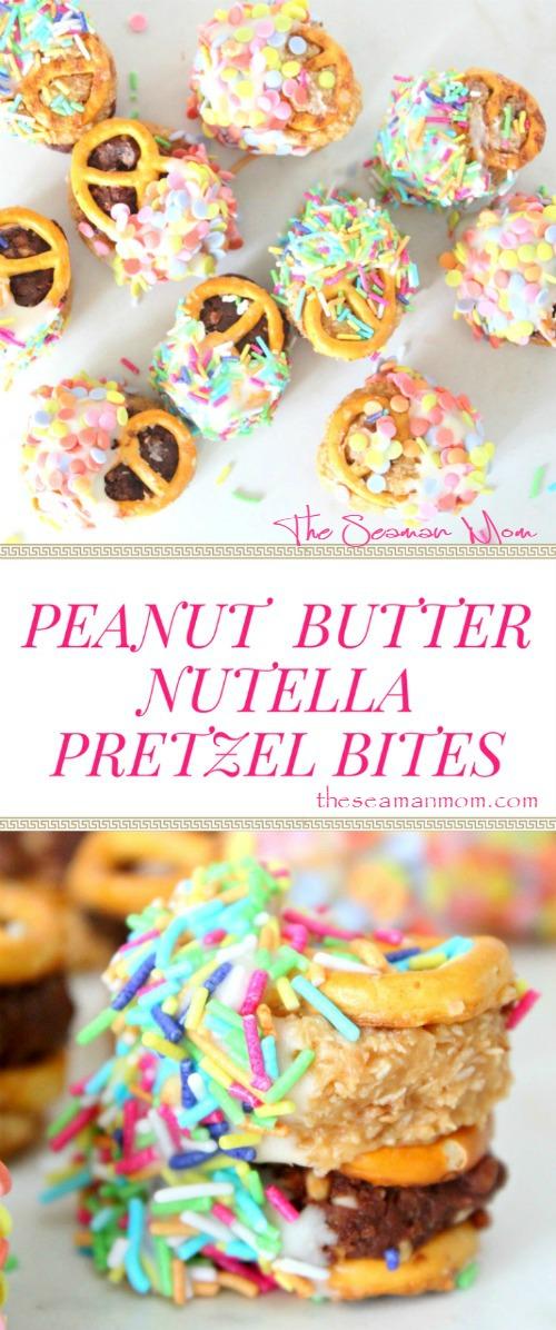 Peanut Butter Nutella Pretzel Bites