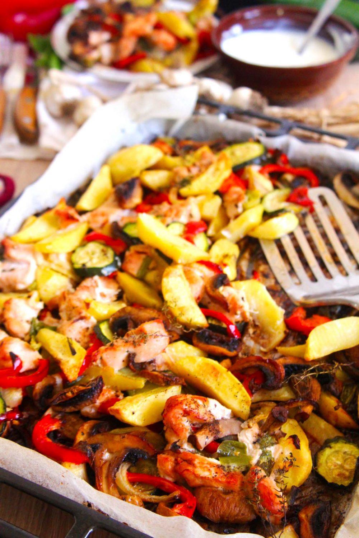 Sheet Pan Turkey Veggie