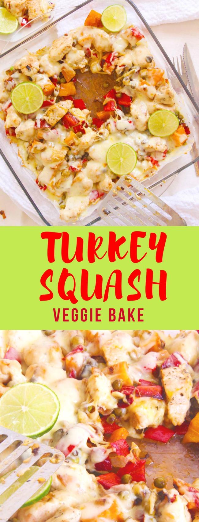 Squash turkey bake