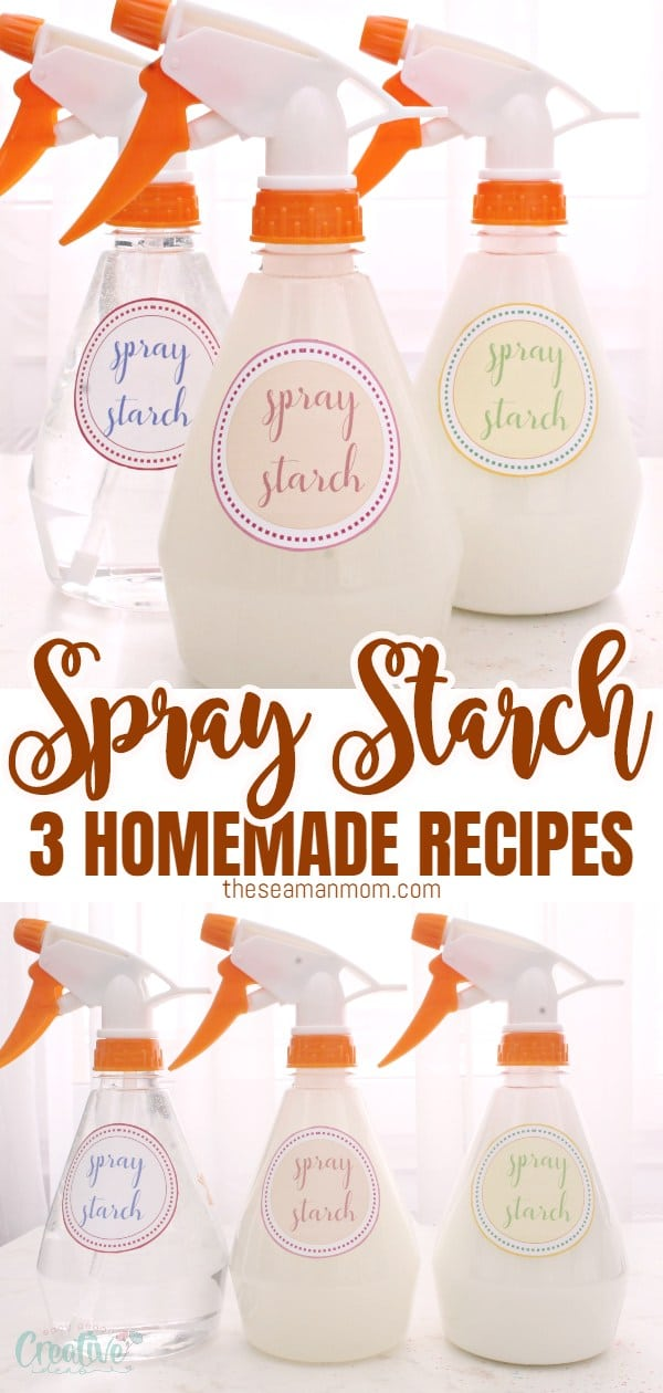 This DIY spray starch is a great help for ironing! Make it in a snap with just a couple of ingredients you probably already have in your pantry! via @petroneagu
