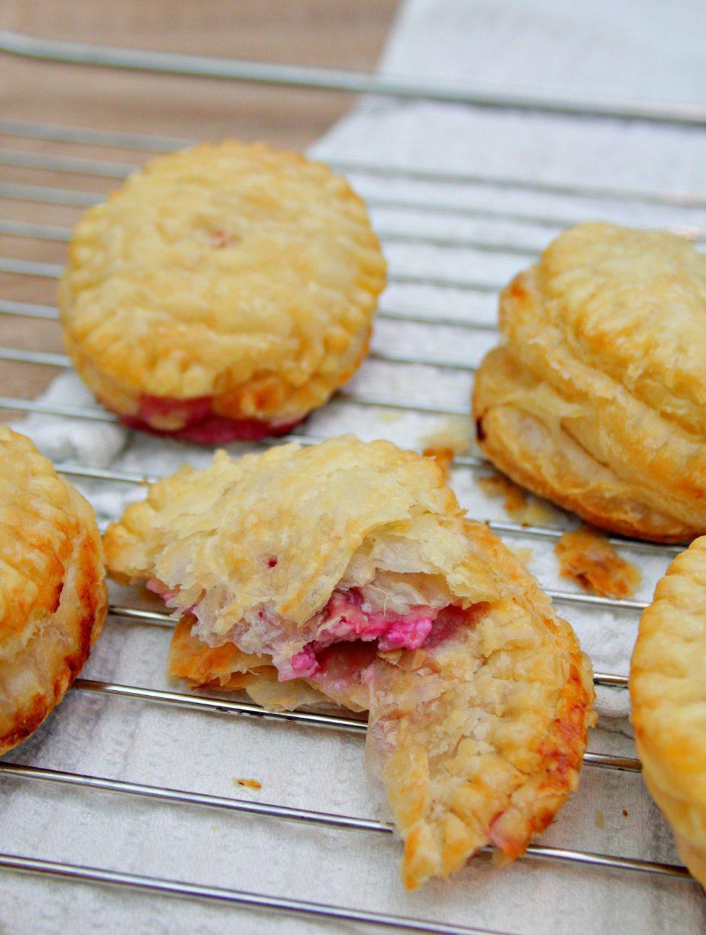 raspberry cheese pockets