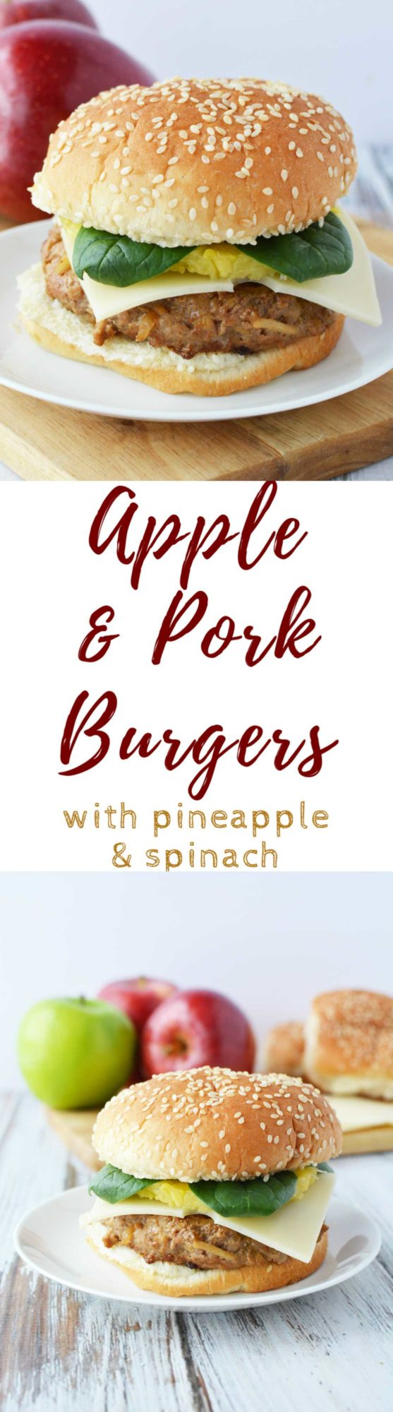 Pork and apple burger recipe
