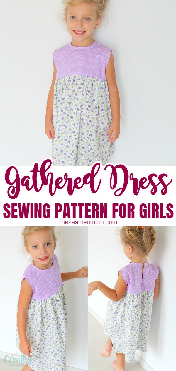 Make a simple but beautiful summer dress for a little girl with this easy to follow and free gathered dress sewing pattern for little girls. Simple dress pattern for beginners! via @petroneagu