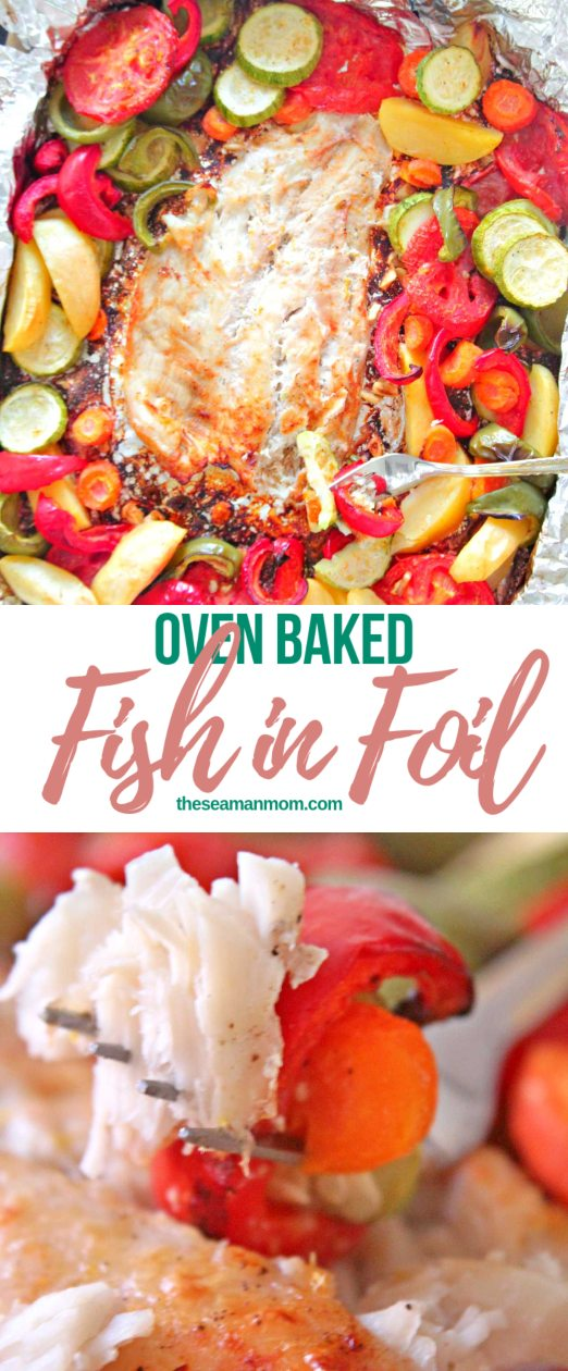 Baked fish in foil