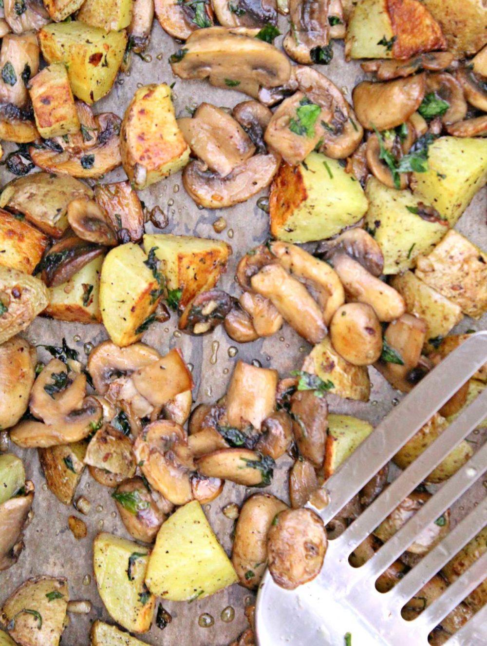 potato and mushrooms bake