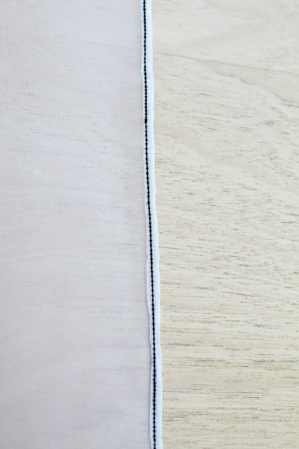 sewing a rolled hem