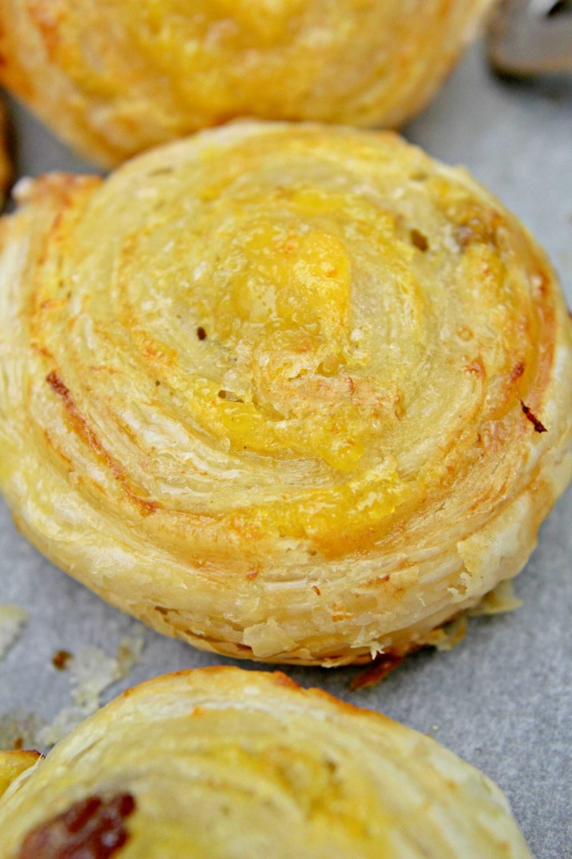 Orange pinwheels made with orange lemon marmalade