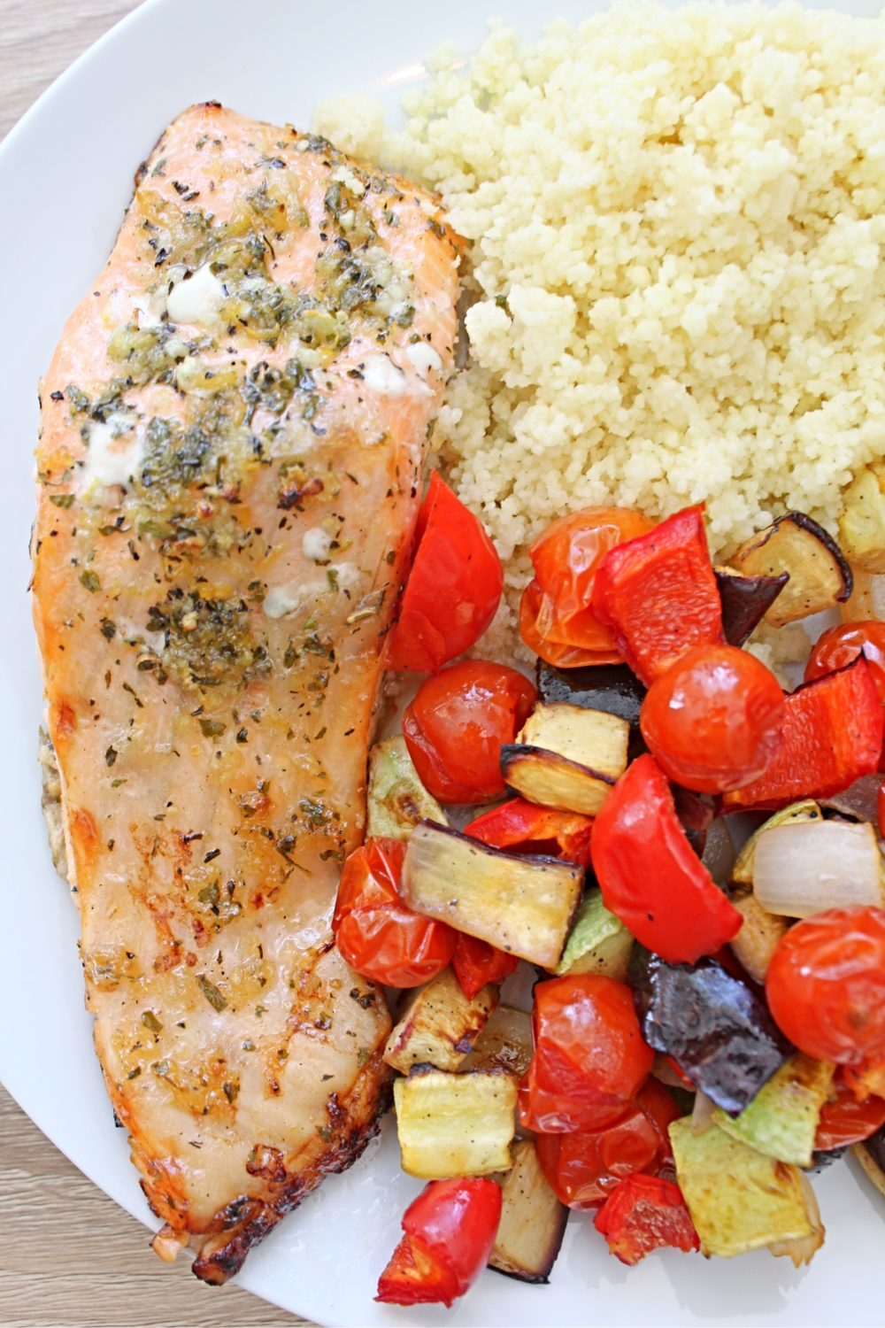 baked salmon with vegetables