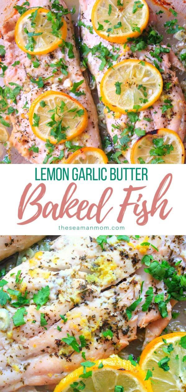 Lemon garlic butter fish