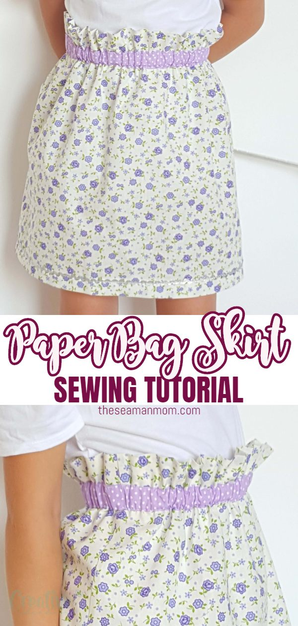 Wanna make a super easy but comfy and cute skirt? This paper bag skirt is just perfect for you! Great beginners project if you're looking for sewing ideas for beginners! via @petroneagu