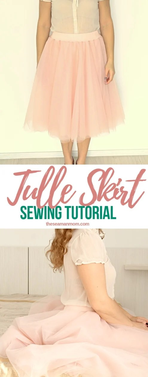 Sewing tutorial: Tulle skirt with elastic waistband