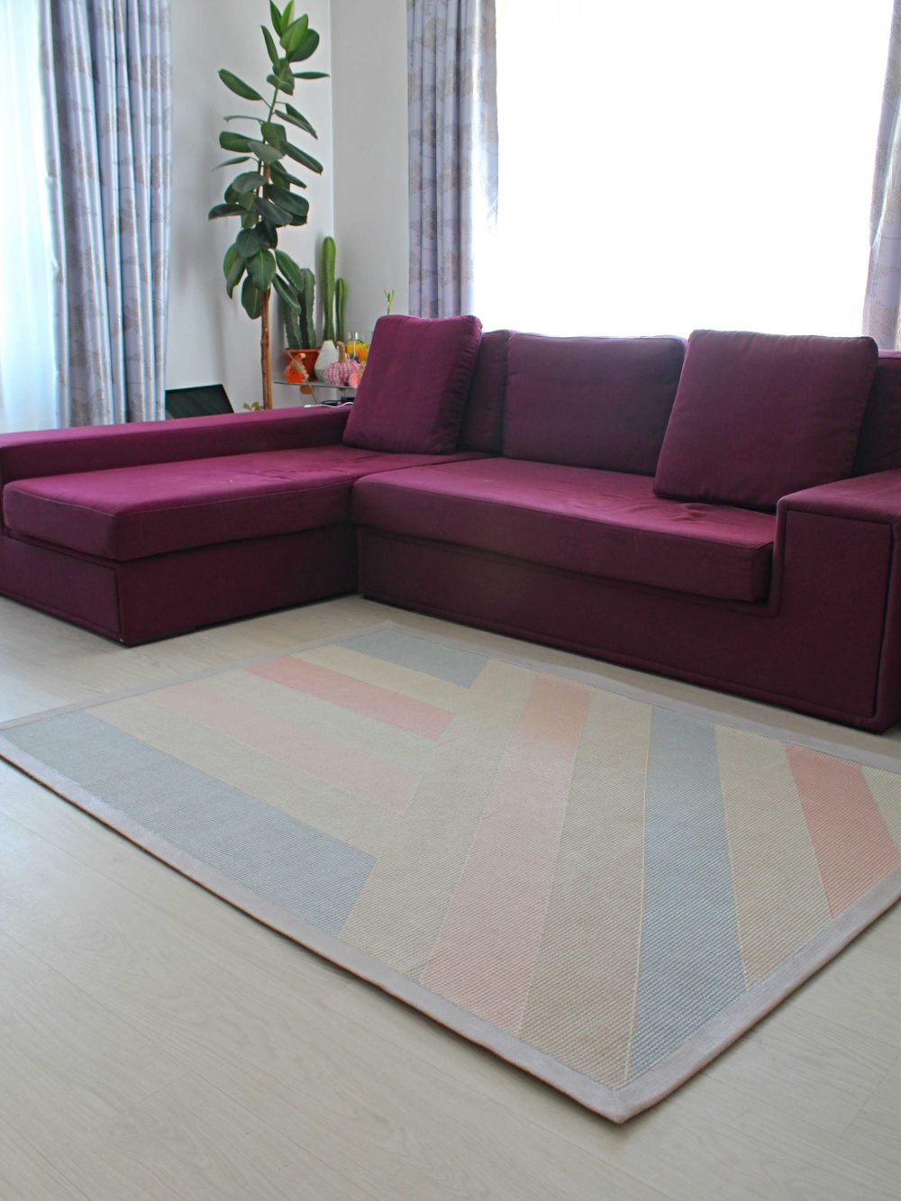 painted canvas rug