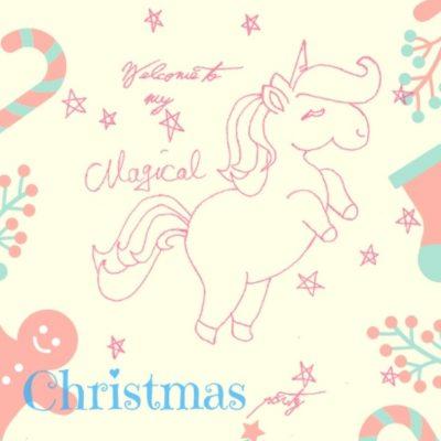 Christmas Unicorn Party Printables
