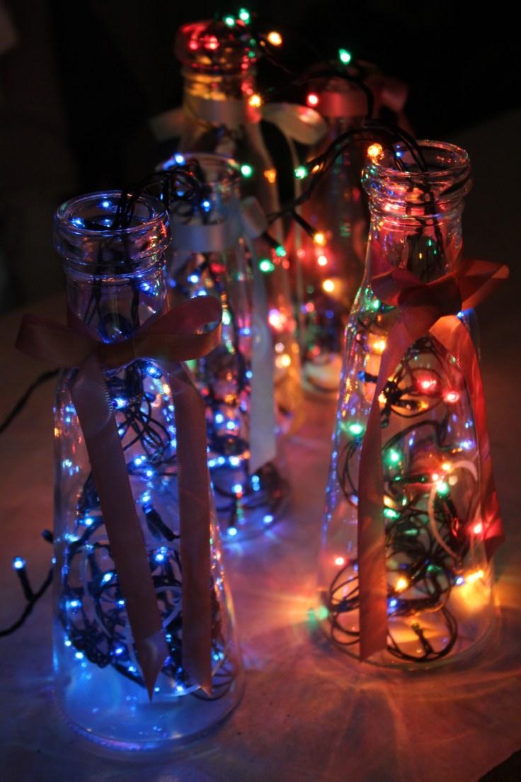 Bottle lights DIY
