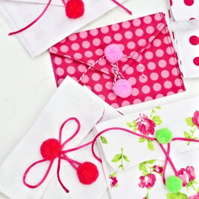 Make these stunning fabric envelopes for Valentine's Day