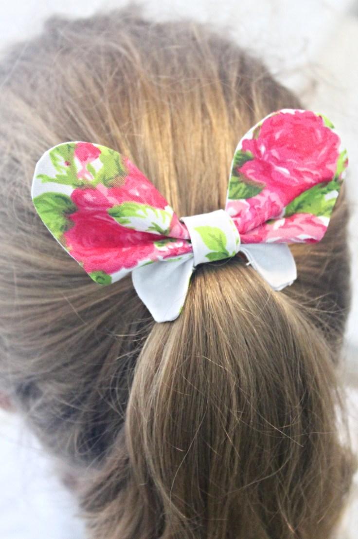 DIY Butterfly hair ties