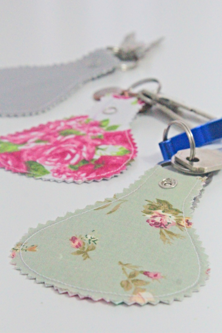 DIY fabric keychains