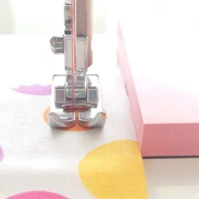 DIY seam guide quick sewing tip