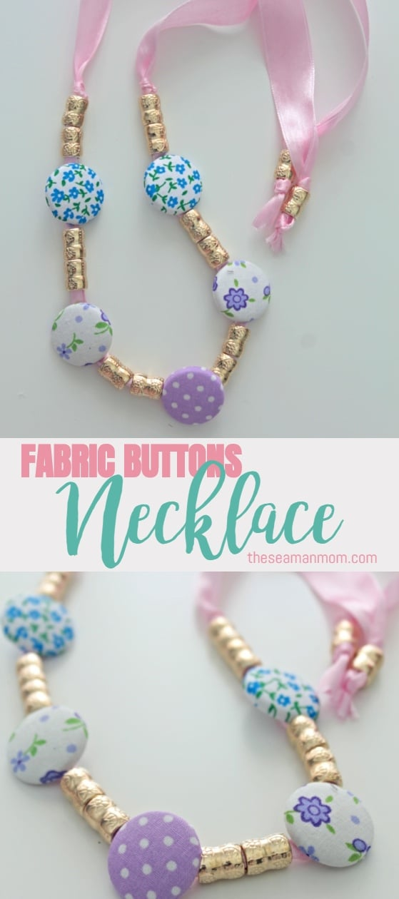 Making your own fabric button necklace is fun, exciting, highly customizable and quite affordable! Not to mention pretty and unique! Get the easy steps below in this DIY button necklace tutorial! via @petroneagu