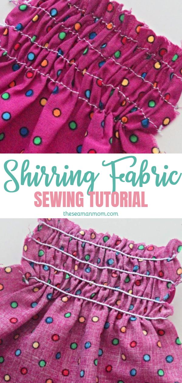 How to shirr fabric
