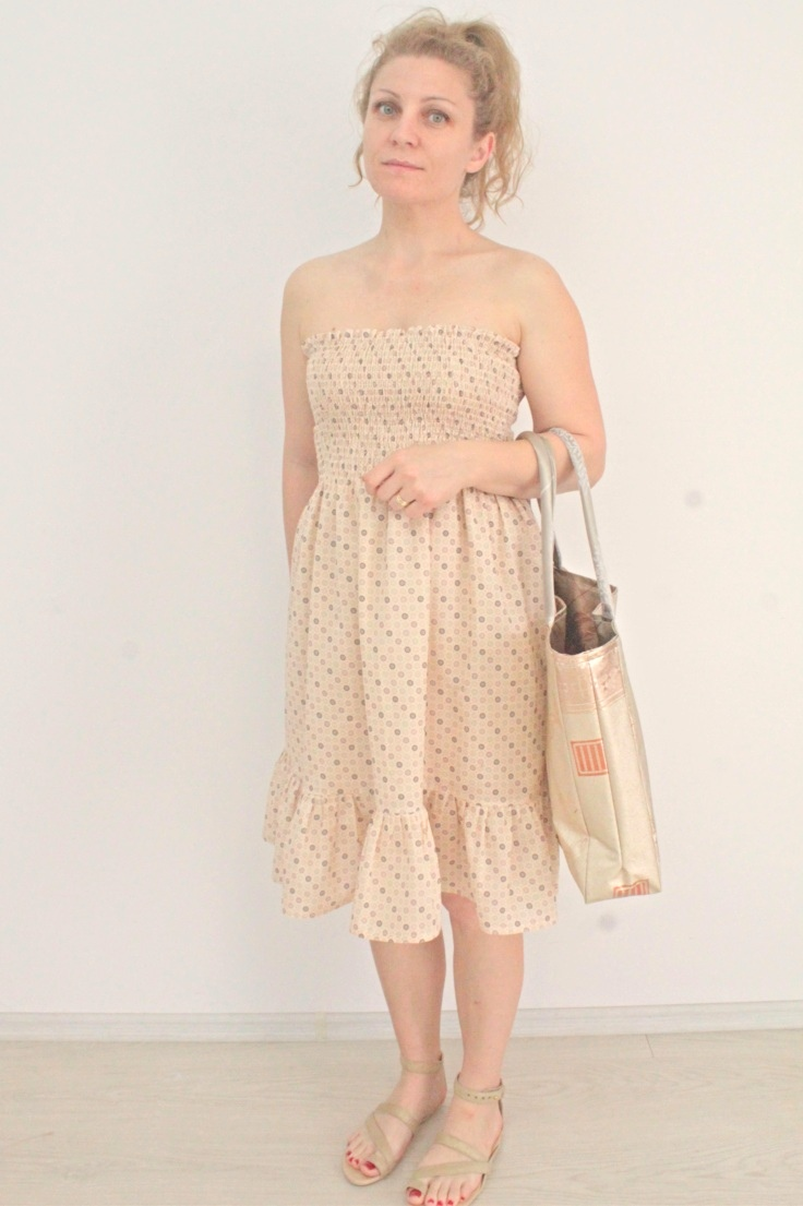 Easy shirred dress