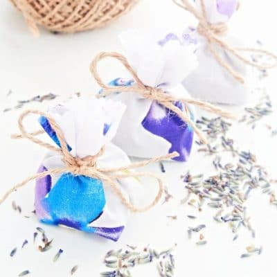 DIY lavender bags sewing tutorial