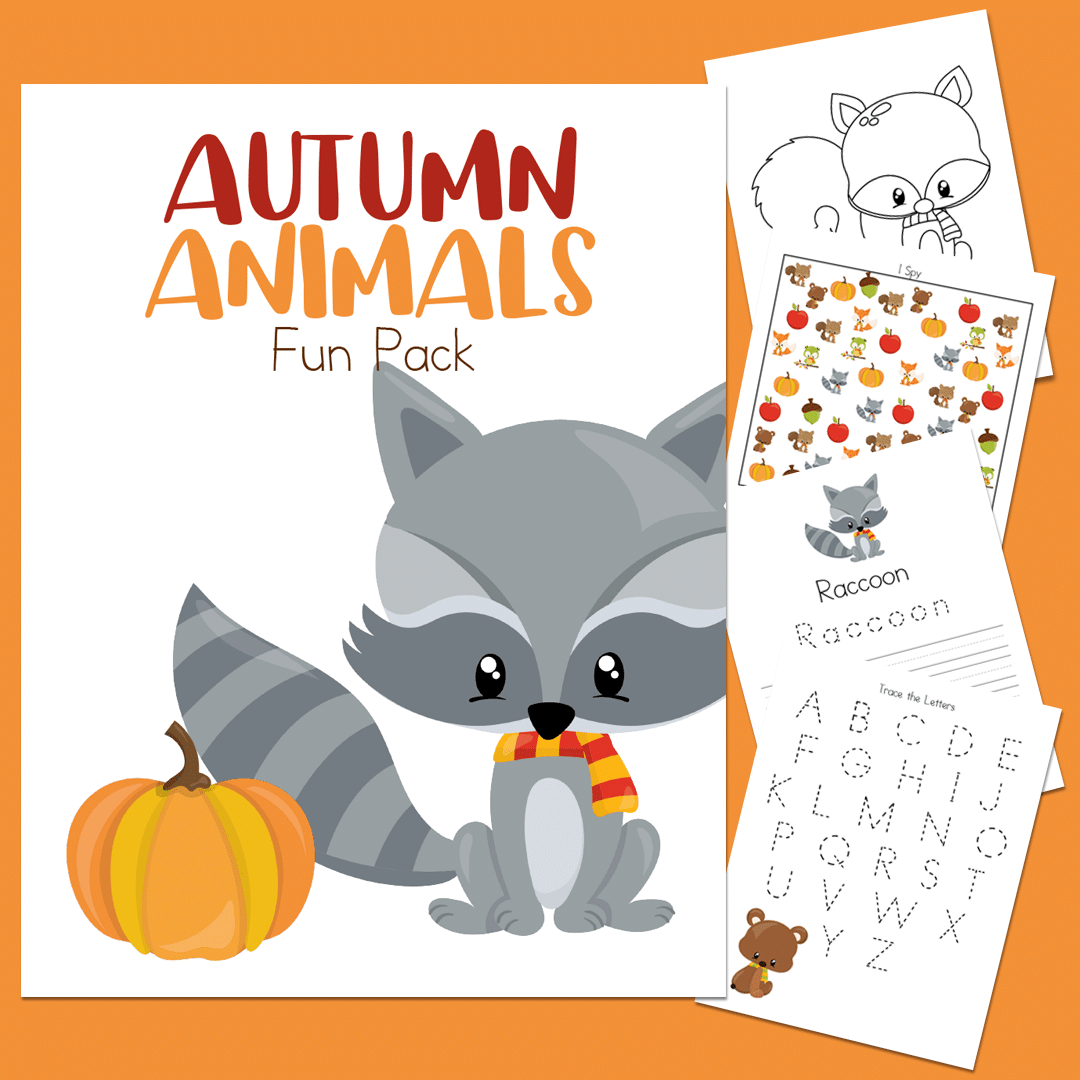 Autumn Animals Activities Fun Printable Pack For Kids