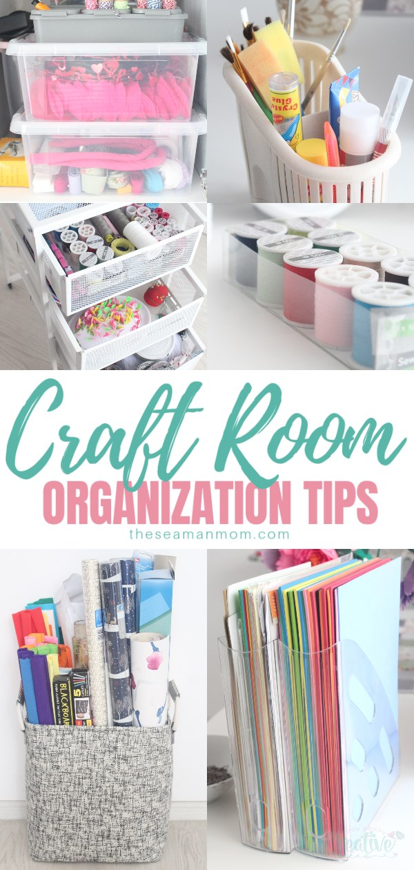 Are you dealing with a messy, disorganized craft room? Struggling to find effective ideas on how to organize craft room best? Craft rooms can become cluttered quite easily, but that's ok! Check out these simple craft room organization tips and organize your craft room today! via @petroneagu