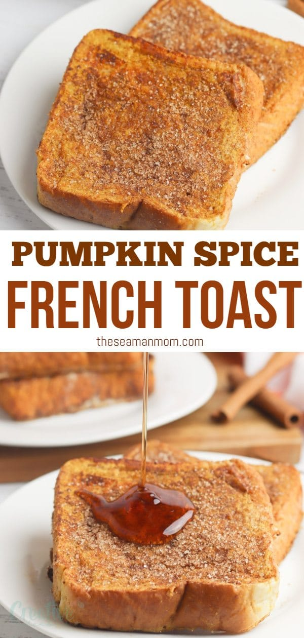 French toast is a delicious breakfast option no matter the season. But when you add pumpkin to the mix, it becomes a must-have fall treat. And when you add a delicious cinnamon sugar coating on your oven baked French toast, you'll want to enjoy this delicious pumpkin French toast every breakfast! via @petroneagu
