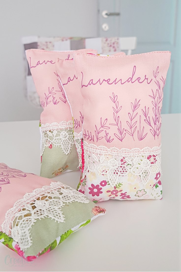 Sewing lavender sachets