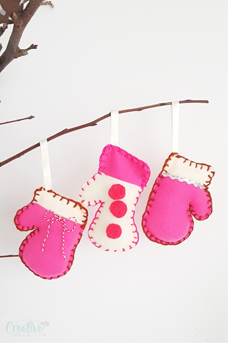 Mitten ornaments pattern
