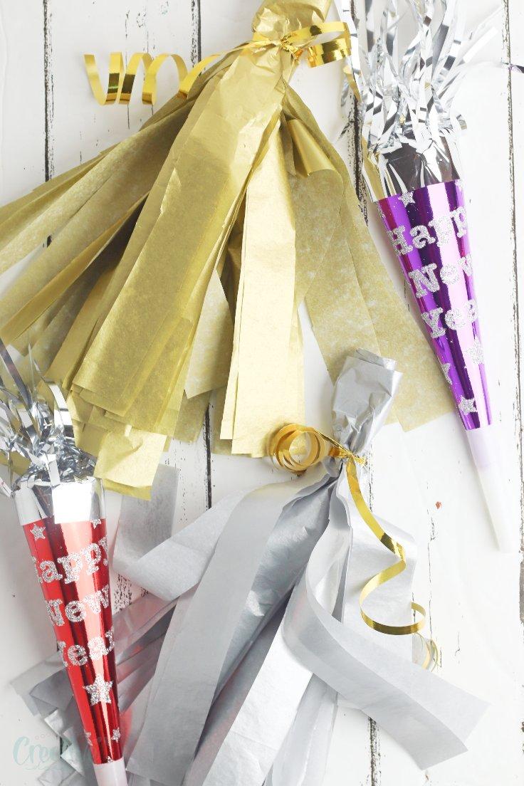 DIY paper tassels