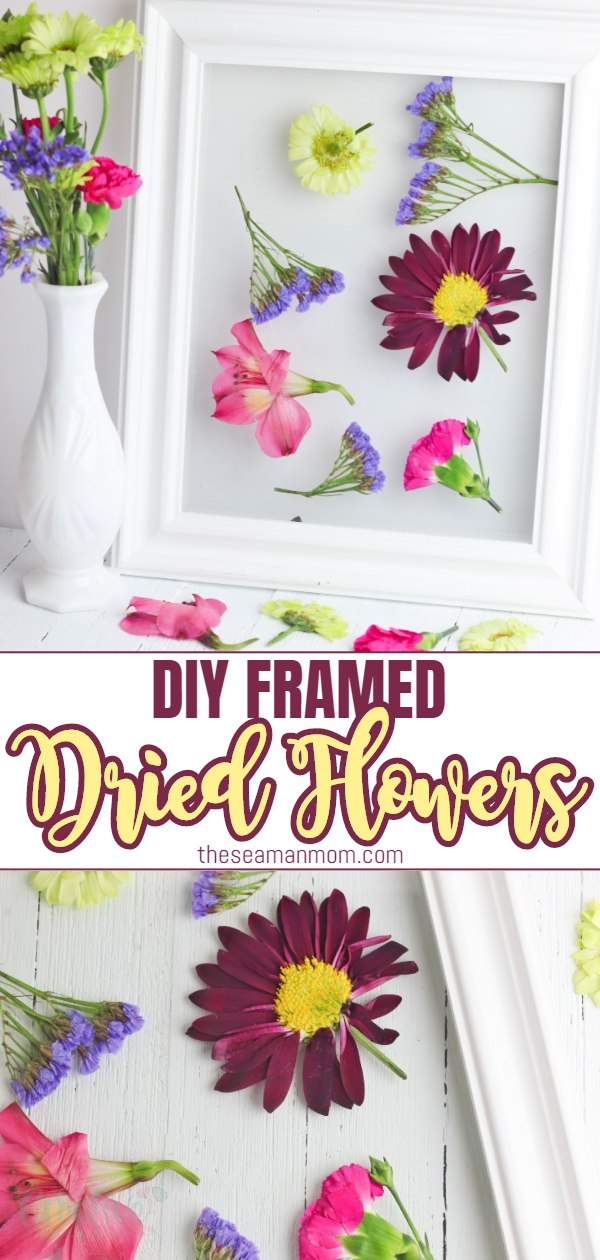 Preserve nature's most beautiful gifts with some framed dried flowers! A pressed flower frame is perfect to decorate your space and a great way to enjoy flowers' beauty all year long! via @petroneagu