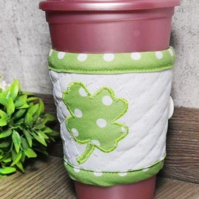 St. Patrick's Day Coffee cup cozy