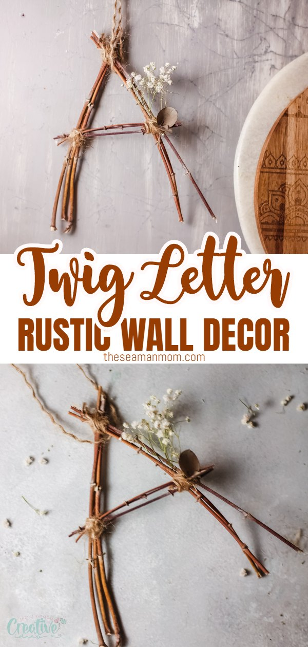 This rustic twig letter makes a beautiful home decor piece that's super easy and affordable to do! Make one letter or a full word of lovely rustic letters and use them to decorate your bookshelves, doors and just any other place that needs some rustic charm via @petroneagu