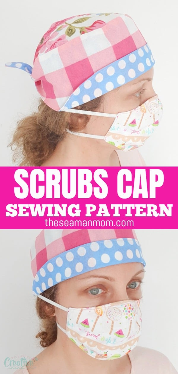 If you're looking for ways to help the medical community, this scrub cap pattern is a great project to sew! Together with a fun face mask and a headband with buttons this scrub cap would make a thoughtful gift set for the medical staff! via @petroneagu