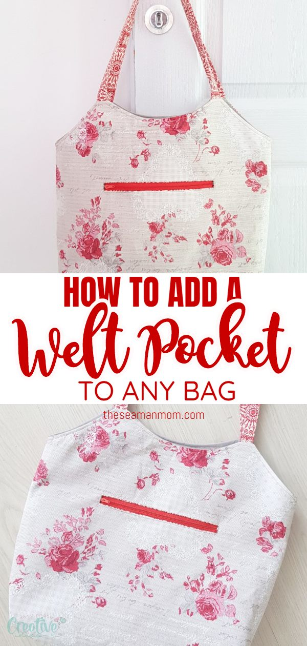 Love sewing bags with lots of pockets? Now you can customize and personalize them even further with a practical and elegant welt zipper pocket! via @petroneagu