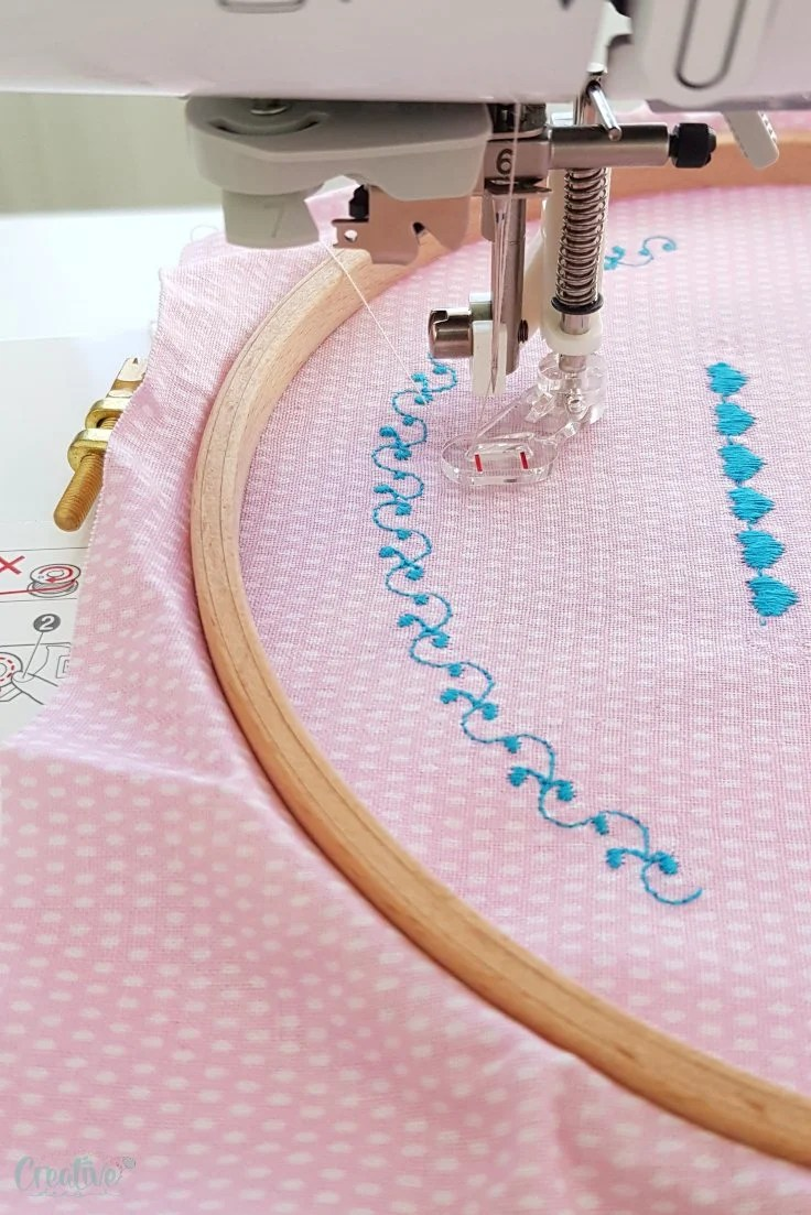 Embroidering on a sewing machine
