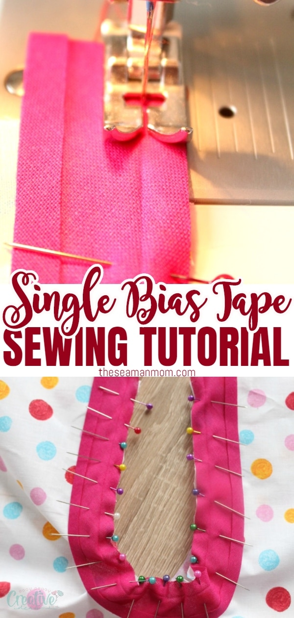 Single fold bias tape binds both straight and curved edges, adds color accents to garments or finish off quilts, skirts or dresses! Sky is the limit when it comes to using bias tape to finish edges! Here's an easy, quick and simple tutorial on how to sew single fold bias tape! via @petroneagu