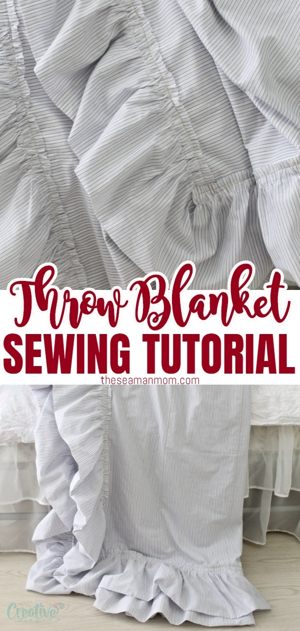 Ever thought about sewing your ownlinen throw blanket? This quick and simple DIY throw blanket makessewing a throw blanket a breeze, you'll be done in no time! This adorablereversible throw blanket is a great decorative piece but will also keep you warm and cozy all season long! via @petroneagu