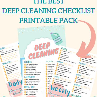 The best complete printable deep cleaning checklist to Keep a House Spotless