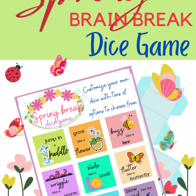 Super fun and easy Spring Break dice game you need to play with your kids – free printable PDF