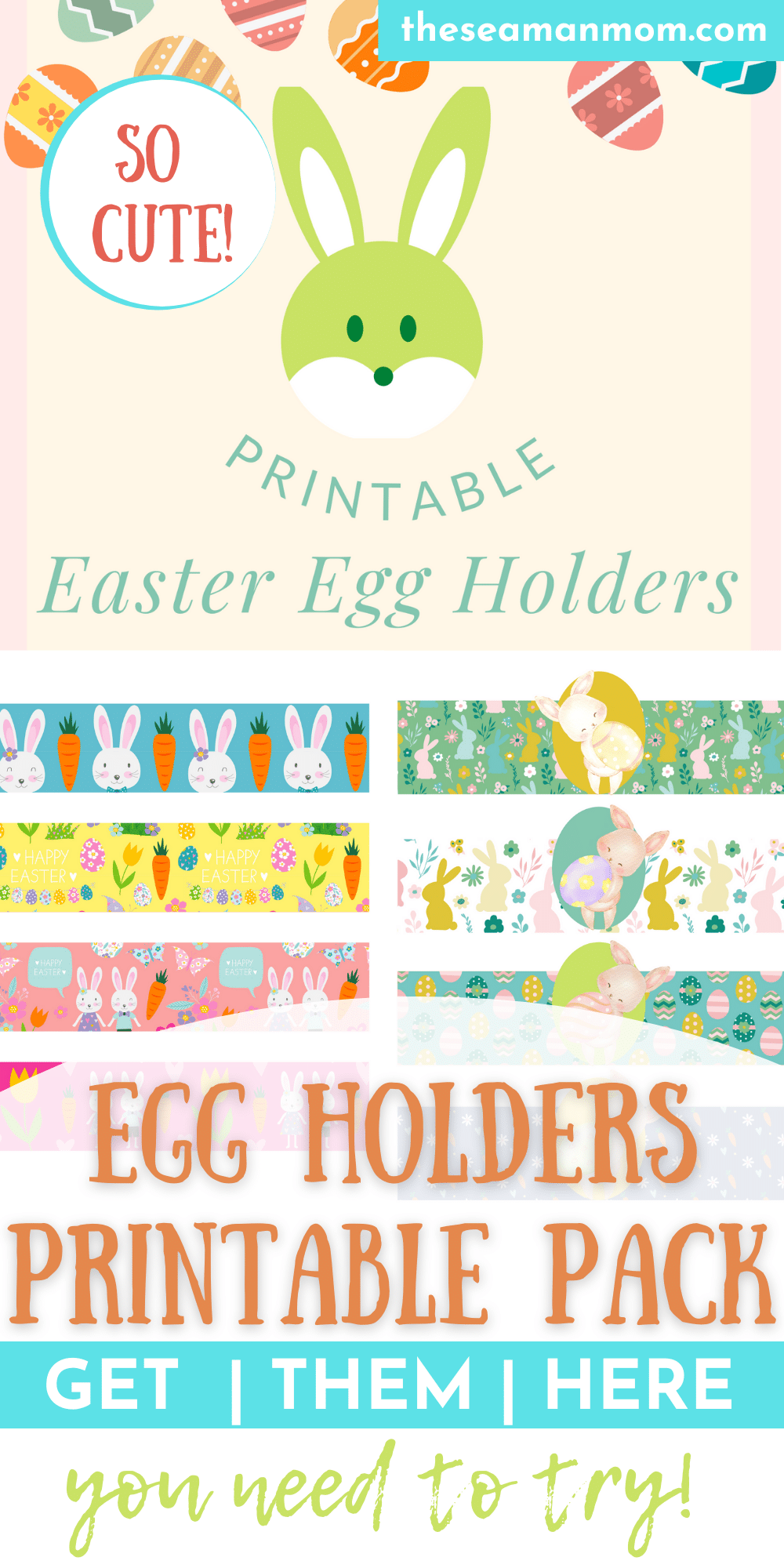 Print out these adorable Easter egg holders and have fun with the kids this Easter! These cute printable egg holders are ready for you and your kids to cut out and fold up around your favorite Easter eggs! via @petroneagu