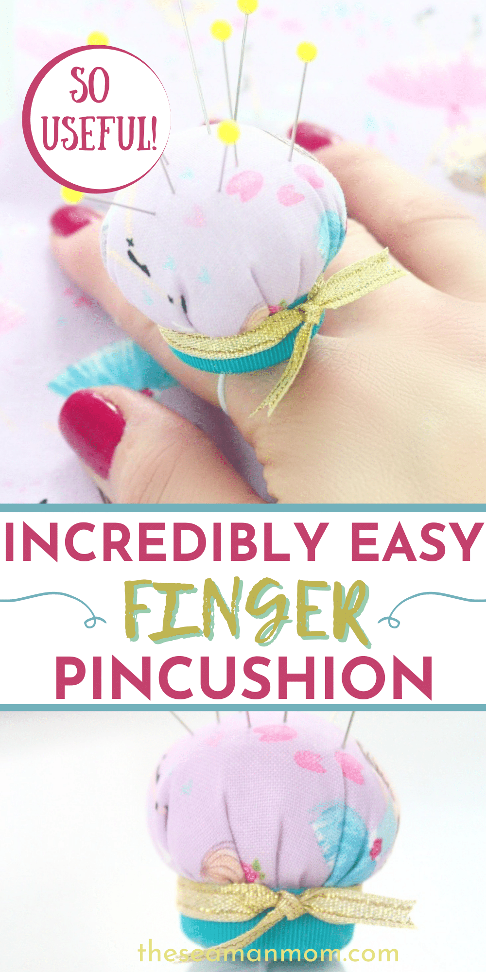 Any sewist needs a pincushion to hold their pins together and on-hand. There are many kinds of pincushions, but a finger pincushion is definitely the cutest ever! This DIY pin cushion is like jewelry for your sewing fingers and is also super easy-peasy, so follow this tutorial to start making your own adorable finger pin cushion. via @petroneagu